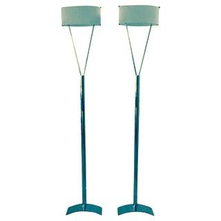 Italian Leucos Floor Lamps - Pair