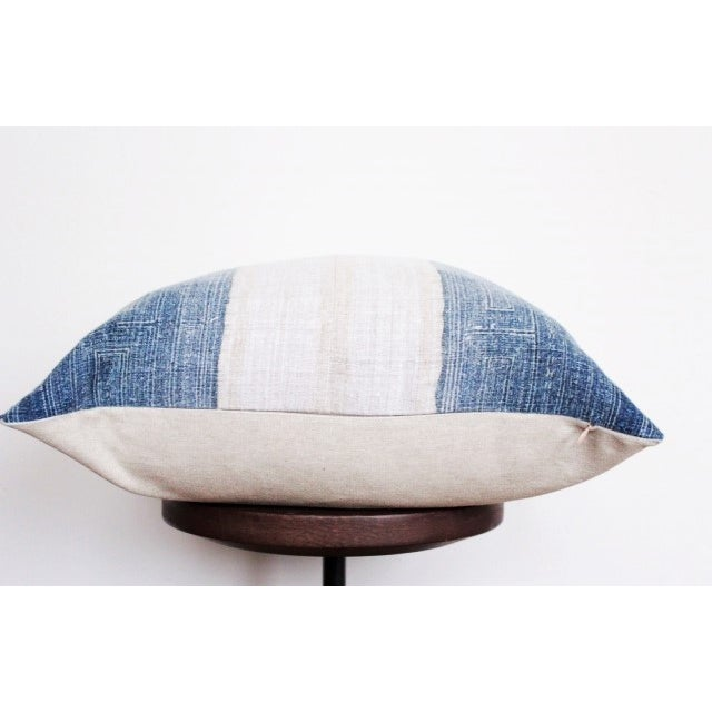 Image of Vintage Batik Hmong Blue and White Pillow