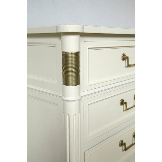 Image of Baker Furniture White Lacquered Nine-Drawer
