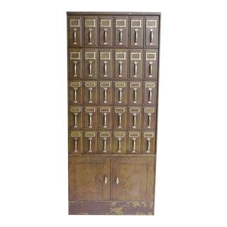1900s American Industrial Metal File Cabinet