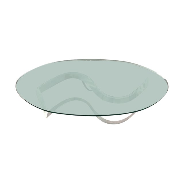 1970s Modern Serpentine Lucite Coffee Table - Image 1 of 8