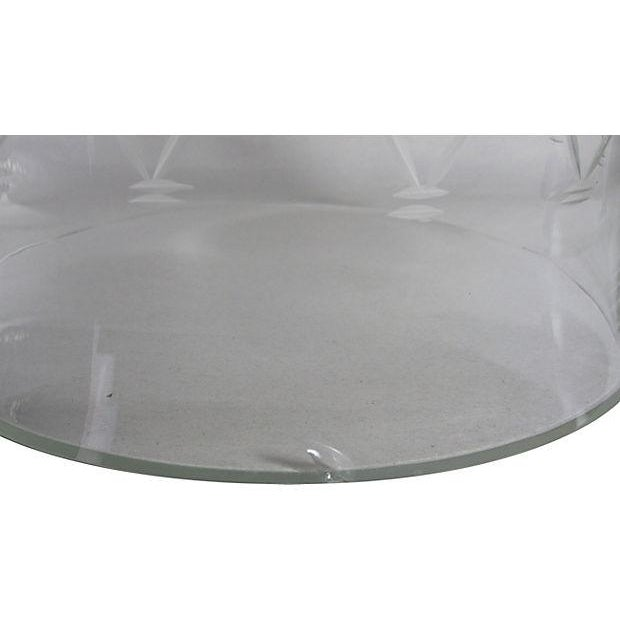 Vintage Etched Glass Nesting Domes - S/2 - Image 8 of 8