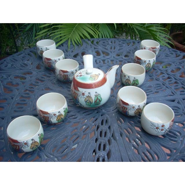 Vintage Chinoiserie Tea Seat - Set of 11 - Image 2 of 6