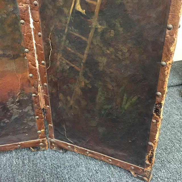 Antique Painted Fireplace Screen - Image 5 of 9