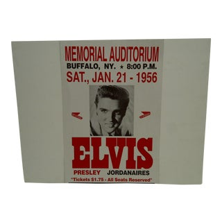 Reprint Elvis in Concert Poster