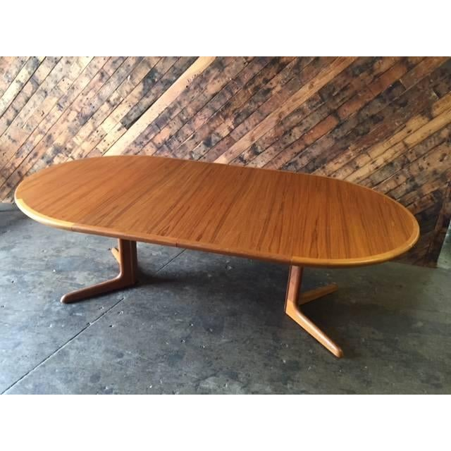 Image of Vintage Danish Teak Refinished Dining Table