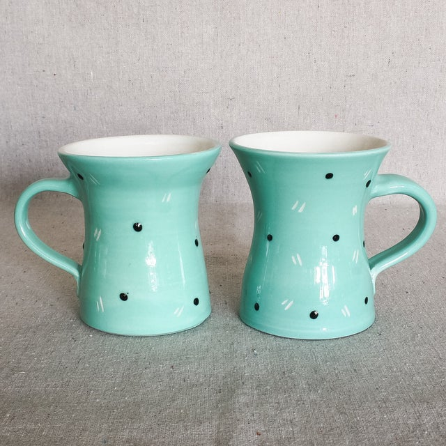 Image of Memphis Pottery Mugs by Gail Cohen - Set of 4
