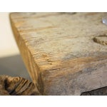 Image of Short Handmade Wood Milking Stool