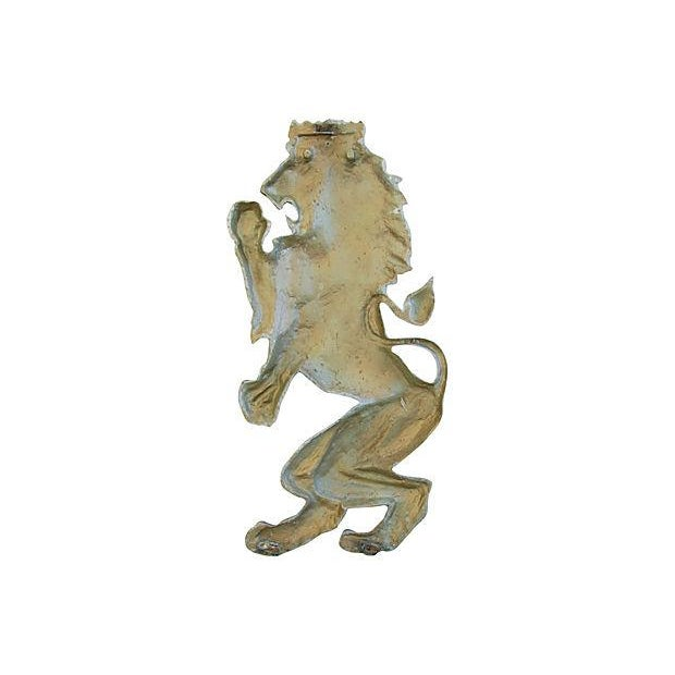 Mid-Century Architectural Lion Plaque - Image 6 of 7