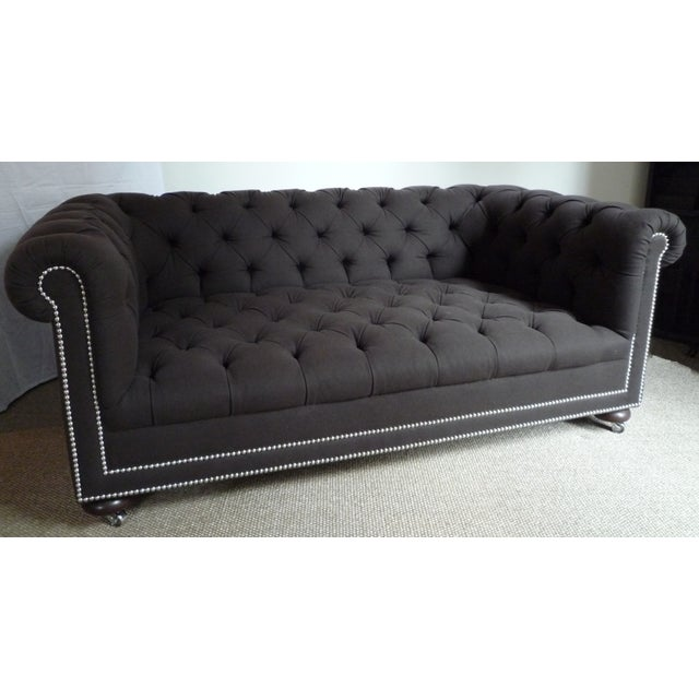 Custom Made Hand Tufted Chesterfield Sofa Chairish