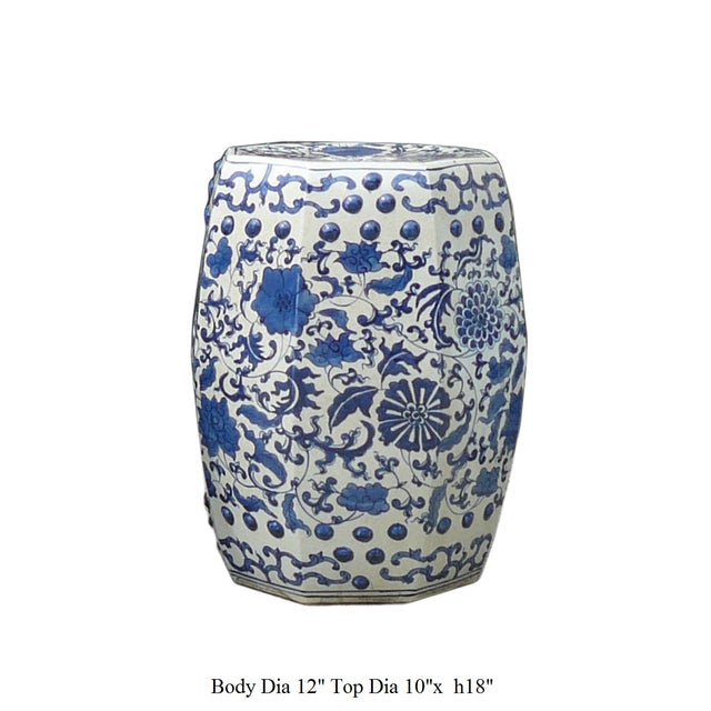 Blue And White Porcelain Flower Stool Table - Image 5 of 5