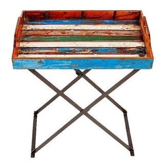 Topside Reclaimed Wood Tray and Stand