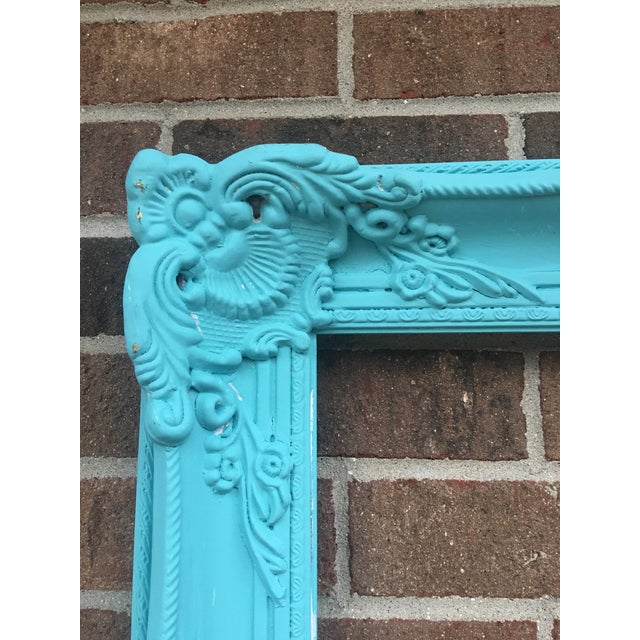 Antique Tiffany Blue Plaster Picture Frame - Image 10 of 10