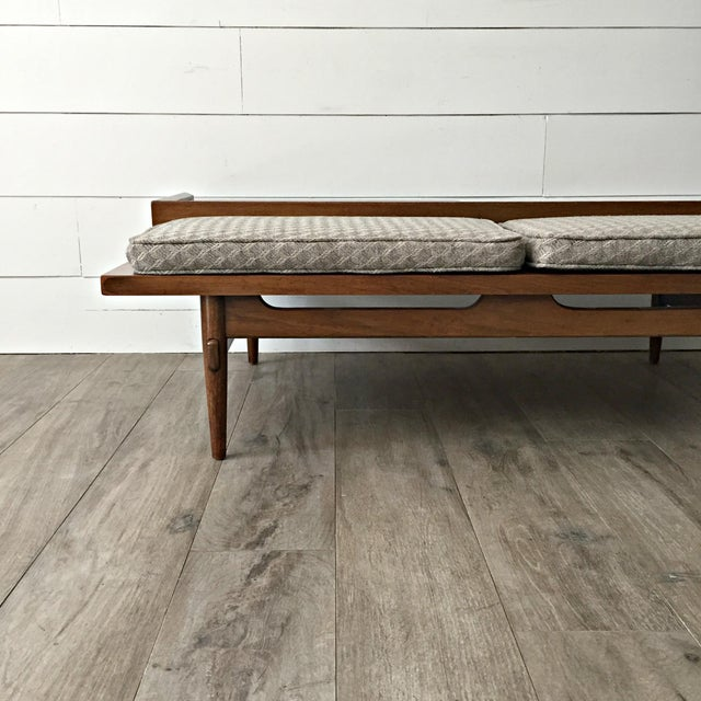 Merton L. Gershun for American of Martinsville Mid-Century Modern Coffee Table Bench - Image 5 of 9
