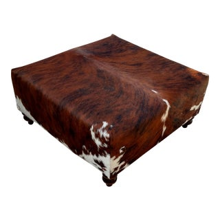 Classic Southwestern Cowhide Ottoman