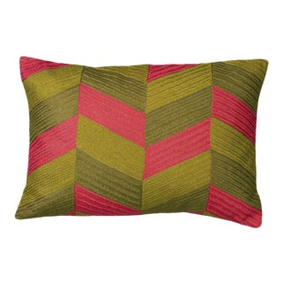 "Piper Collection Geometric Linen ""Lowery"" Pillow"