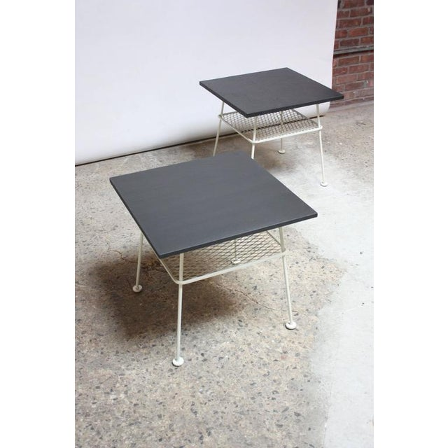Pair of Slate and Iron Tables by Russell Woodard - Image 2 of 11