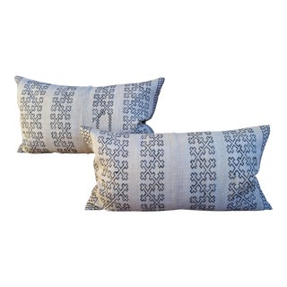 Embroidered Hill Tribe Pillows - Pair