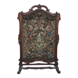 19th Century French Walnut Fireplace Screen