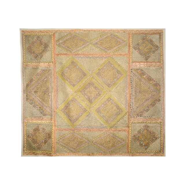 Yellow and Peach Multi-Purpose Hand-Worked Panel - Image 1 of 2