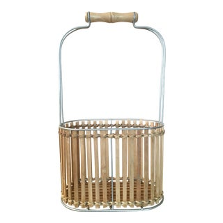 Bamboo Wine Bottle Basket