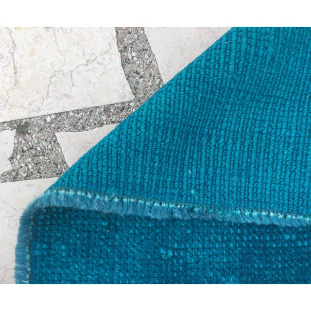Oushak Over-Dyed Turquoise Runner - 2′10 X 14' - Image 6 of 8