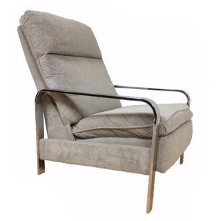 Milo Baughman Chrome Recliner