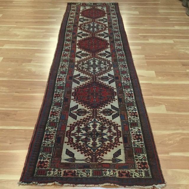 "Vintage Persian Sarab Runner Rug - 2'9"" x 10'7"" - Image 2 of 6"