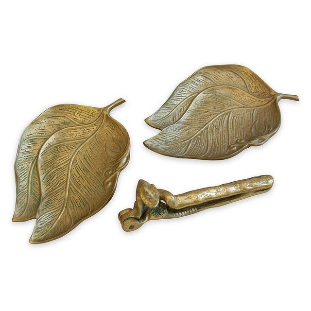 1950s Squirrel Nut Cracker & Leaf Trays - 3 Pieces - Image 3 of 5