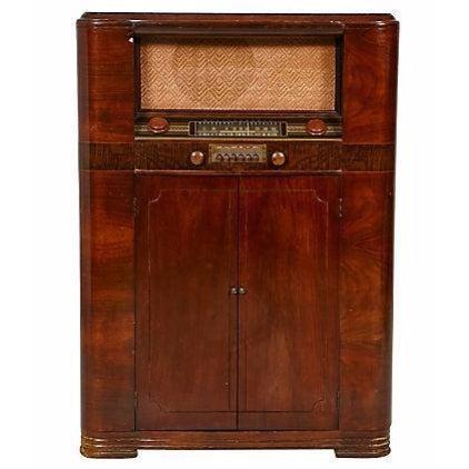 Image of Art Deco Floor Model Stereo System