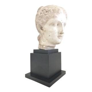Italian 19th Century White Marble Head of Venus