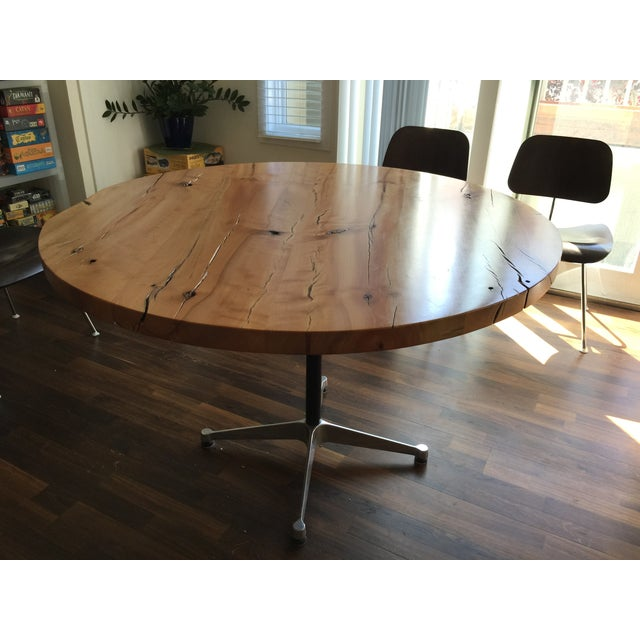Urban Hardwoods Reclaimed Wood Table W/Eames Base - Image 2 of 3