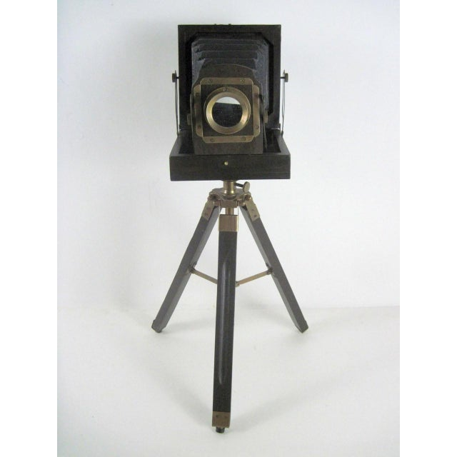 Brass And Wood Tripod Replica 1800's Box Camera - Image 2 of 9