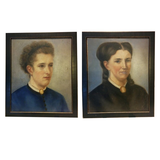Image of 19th Century Portraits - A Pair