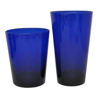 Libbey Cobalt Glasses - Set of 35