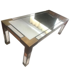 Currey and Company Mirrored Leighton Coffee Table