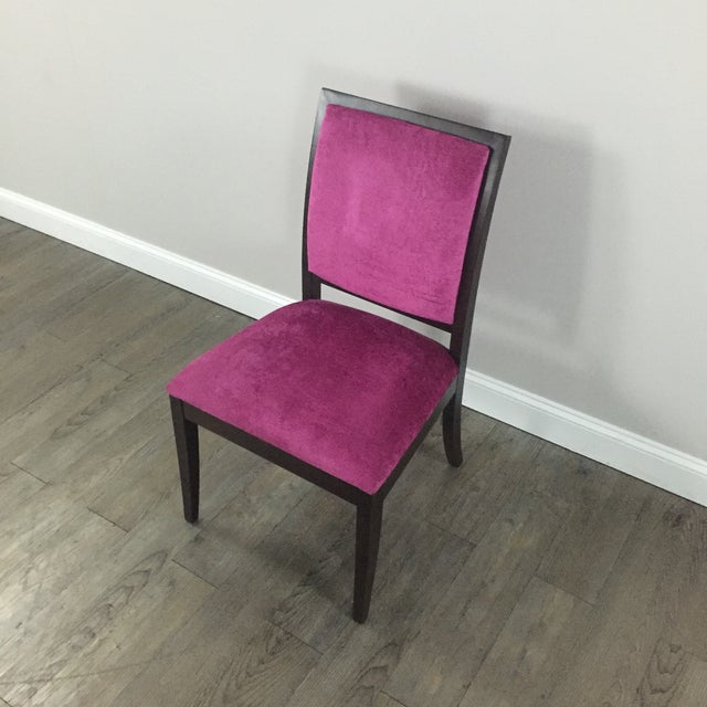 Image of Magenta Chenille Accent Chair by Ethan Allen
