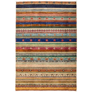 "Lori, Hand Knotted Area Rug - 4'3"" X 6'2"""