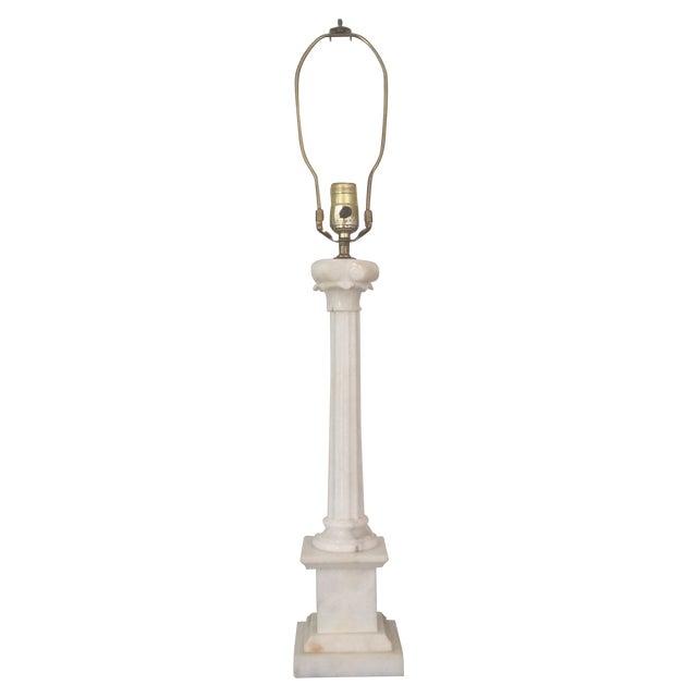 Alabaster Column Lamp - Image 1 of 9