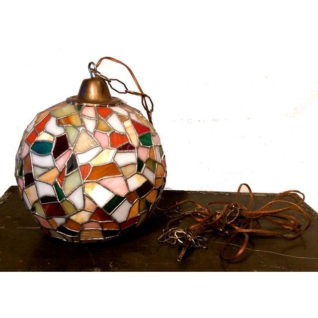 Mid-Century Mosaic Globe Pendant Lamp - Image 8 of 8