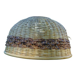 Vintage Wicker Swag Light
