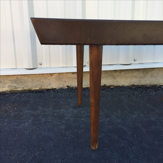 Mid Century Modern Walnut Slat Bench - Image 6 of 6
