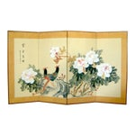 Image of Oriental Silk Screen with Chrysanthumums