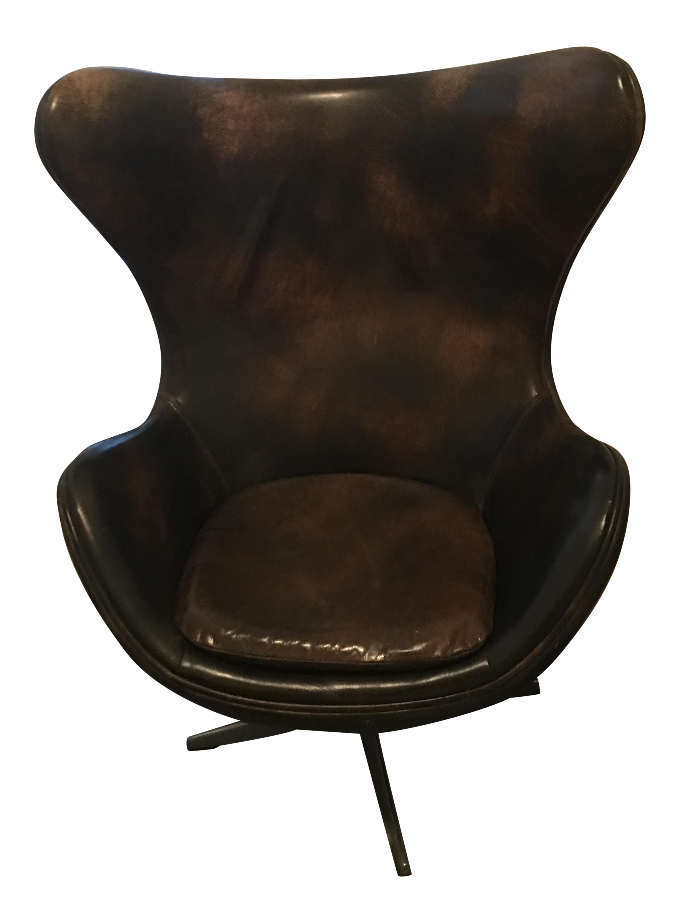Restoration Hardware Copenhagen Leather Wingback Chair   Image 1 Of 5