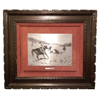 1969 Frederic Remington Steel Plate Etching