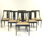 Image of Karl Springer Lacquered Gondola Chairs - Set of 6