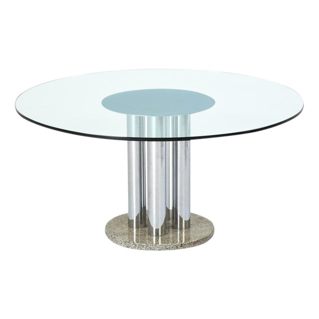 Pace-Style Pedestal Dining Table - Image 1 of 4