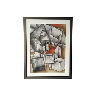 Cowen Modernist Cubist Abstract Drawing