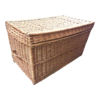 French Wicker Trunk