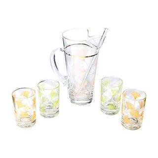 1960's Floral Beverage Set - Set of 6